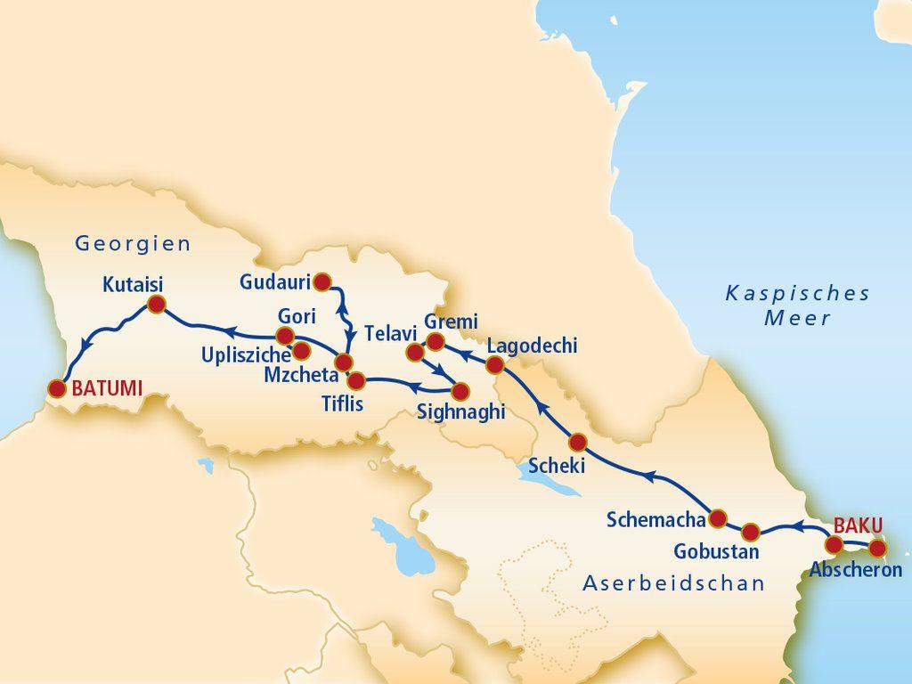 Von Baku nach Batumi